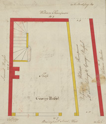 [Plan of property on Basinghall Street] 115H